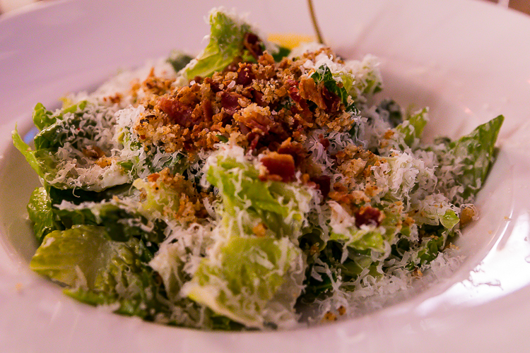 The Caesar Salad at Aura, Nita Lake Lodge