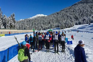 Athletes line up for the start of the Coast Outdoors Payak race in Whistler.