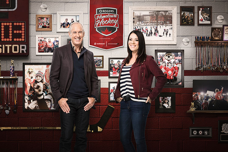 Ron MacLean and Tara Slone present Whistler's Hometown Hockey event.