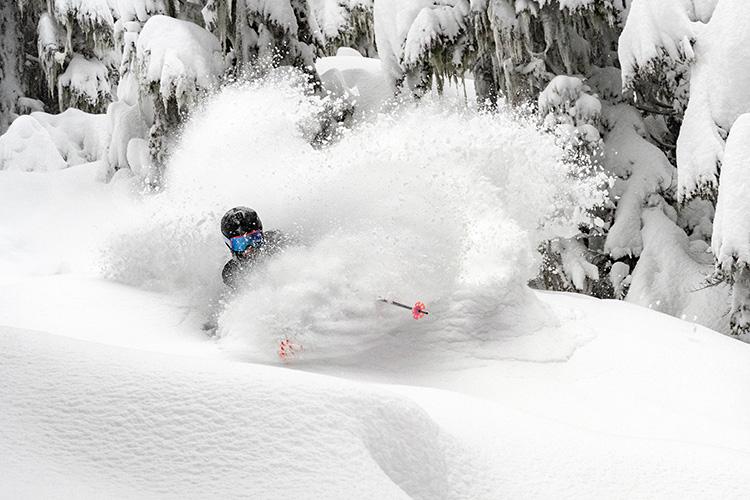 Skiing Powder in Whistler
