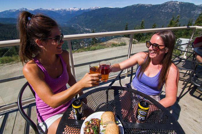 Raven's Next Patio on Whistler Mountain