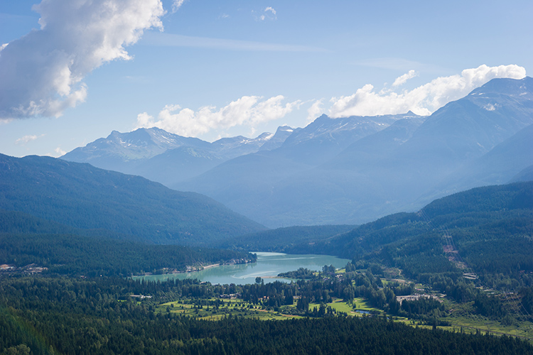 Green Lake and the Whistler Valley