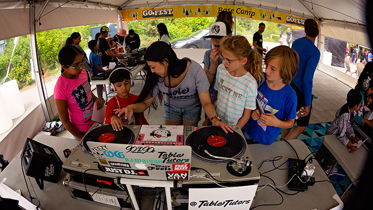 Table Tutors DJ workshop at GO Fest in Whistler