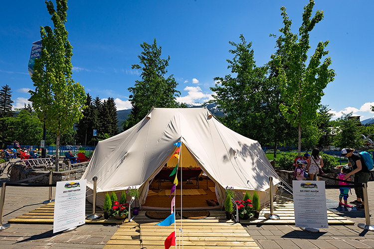 The GO Fest Haven in Whistler
