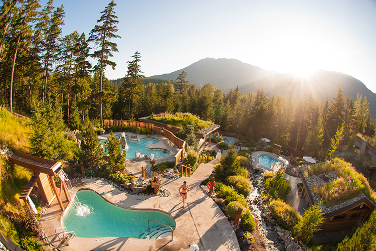 The baths at Scandinave Spa IN Whistler