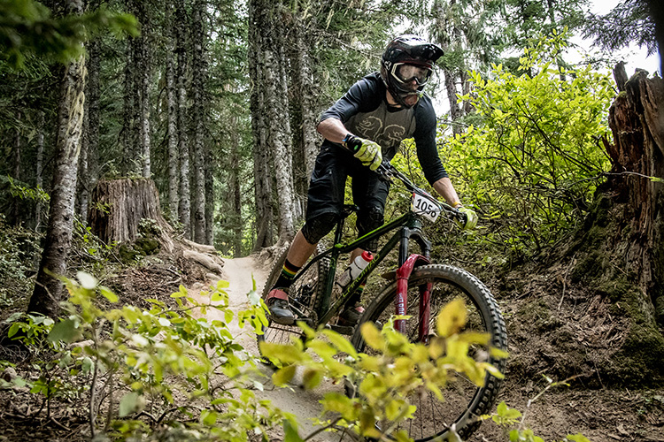 Rider in the Enduro Challenge at Crankworx Whistler
