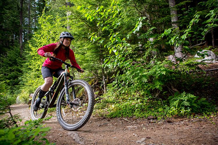 Mountain biker on the Cheakamus Lake trail
