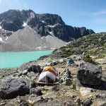 Campground at Wedgemount Lake