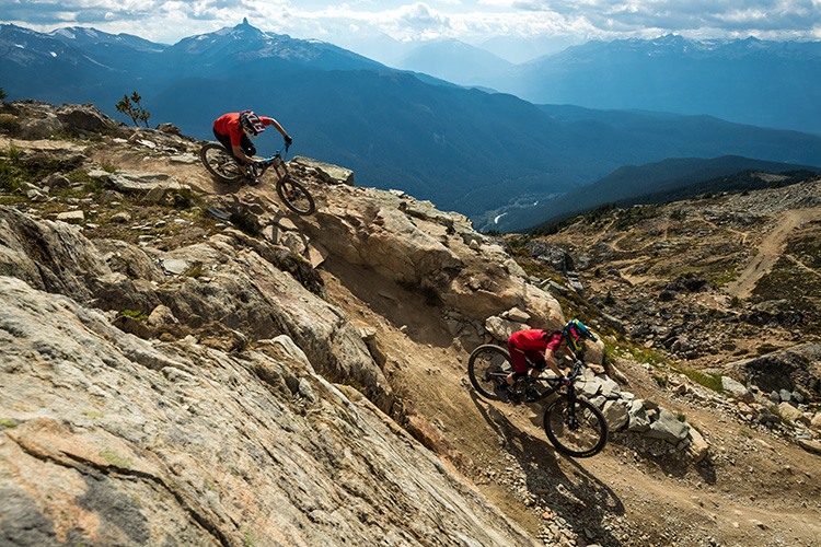 Top of the World Trail in Whistler Mountain Bike Park