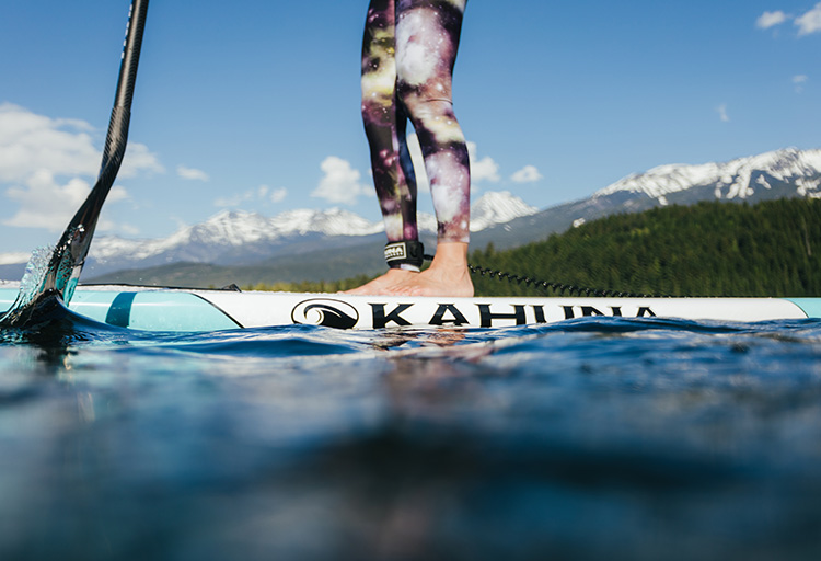 Paddleboarder on Alta Lake in Whistler