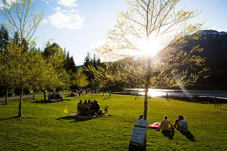 Lakeside Park in Whistler