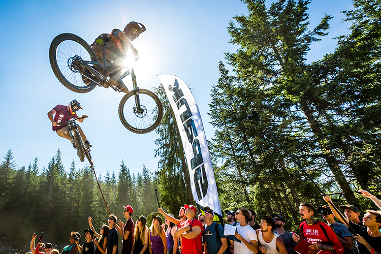 Two riders whip-off at Crankworx Whistler