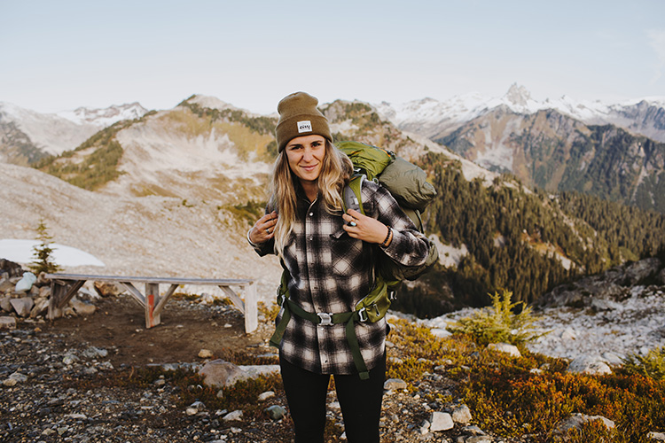 Micayla Gatto hiking in Whistler