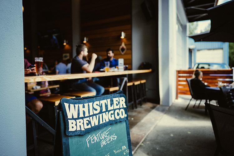 Whistler Brewing Co patio