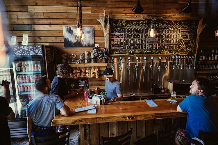 Inside Coast Mountain Brewing