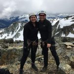 Guests at the summit of the Whistler Via Ferrata Tour