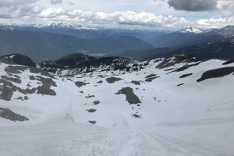 A snow slope on the Via Ferrata tour