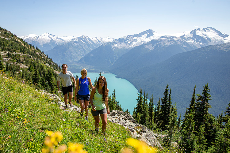 Hikers on High Note Trial in Whistler