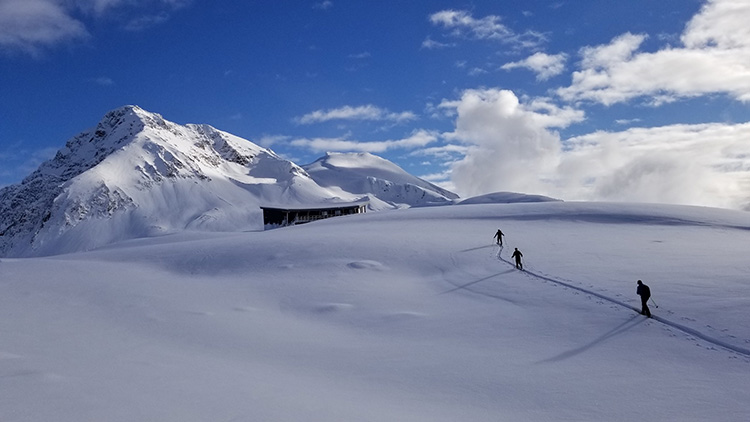 Backcountry skiiers in Whistler