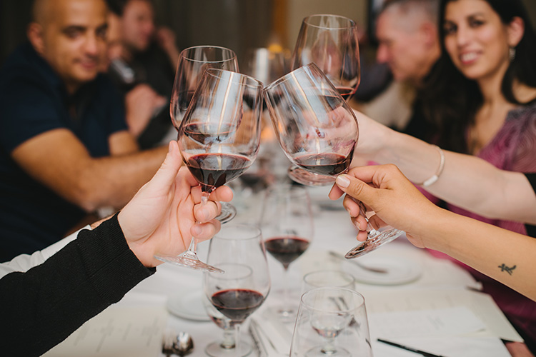 Wine tasting cheers at Cornucopia Whistler