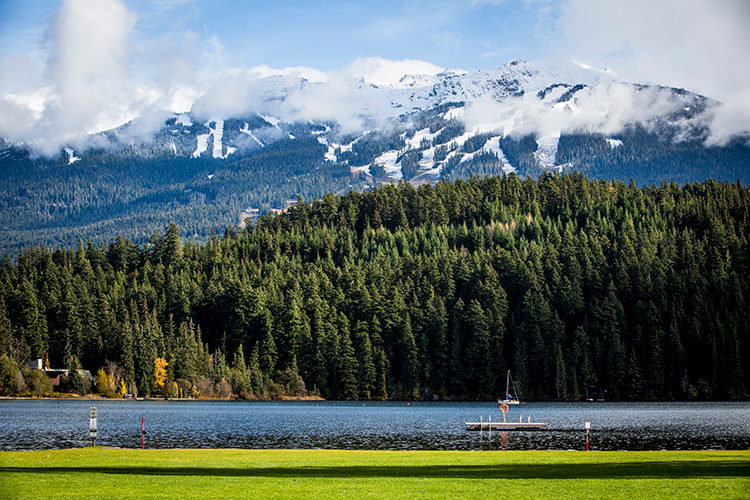 View from Alta Lake in Whistler