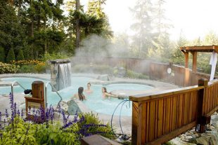 Pools at Scandinave Spa in Whistler