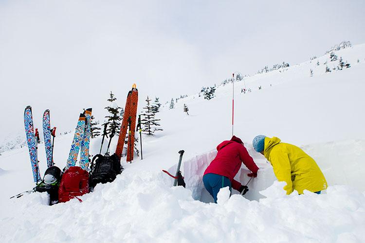 Backcountry AST training in Whistler