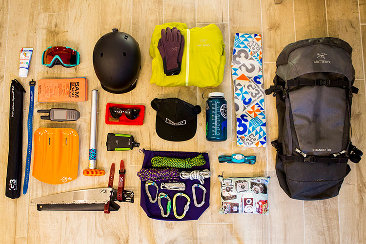 Backcountry ski gear