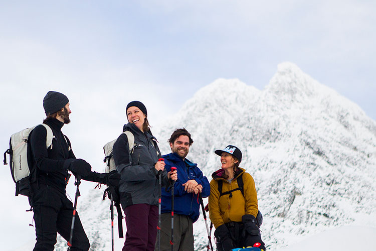 Whistler artists tour the Spearhead Range in Whistler for inspiration