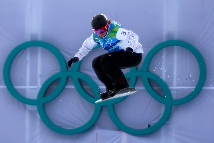 Maelle Ricker on course at the 2010 Olympic Winter Games.