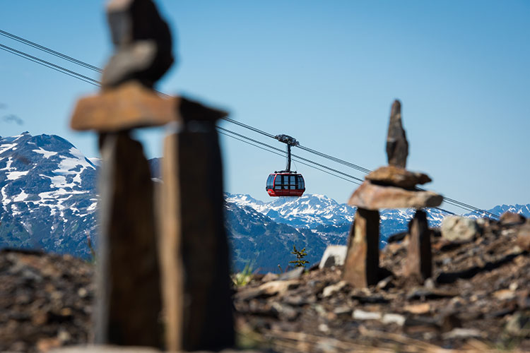 The PEAK 2 PEAK Gondola in Whistler.