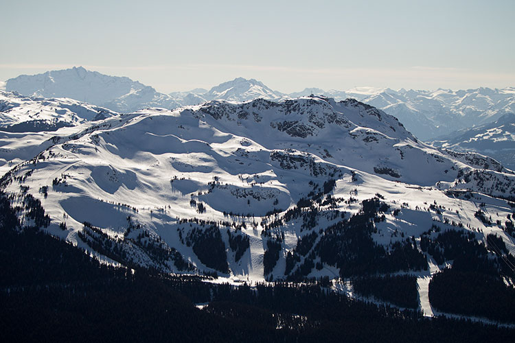 Whistler Mountain bathed in sunshine