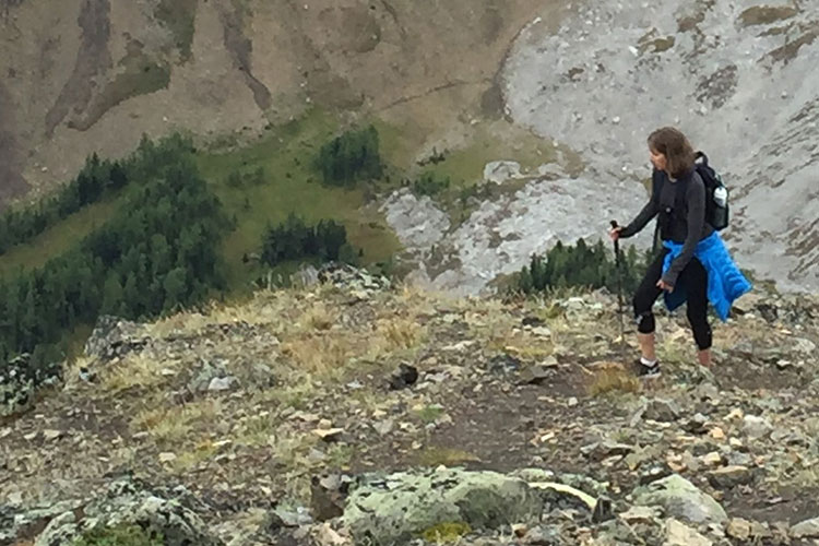 Barrett Fisher, Tourism Whistler's CEO hikes a mountain.