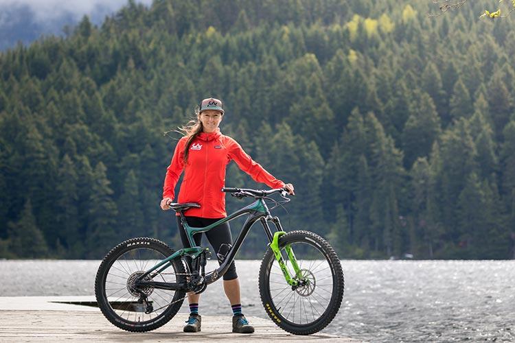 Leonie Picton With Bike