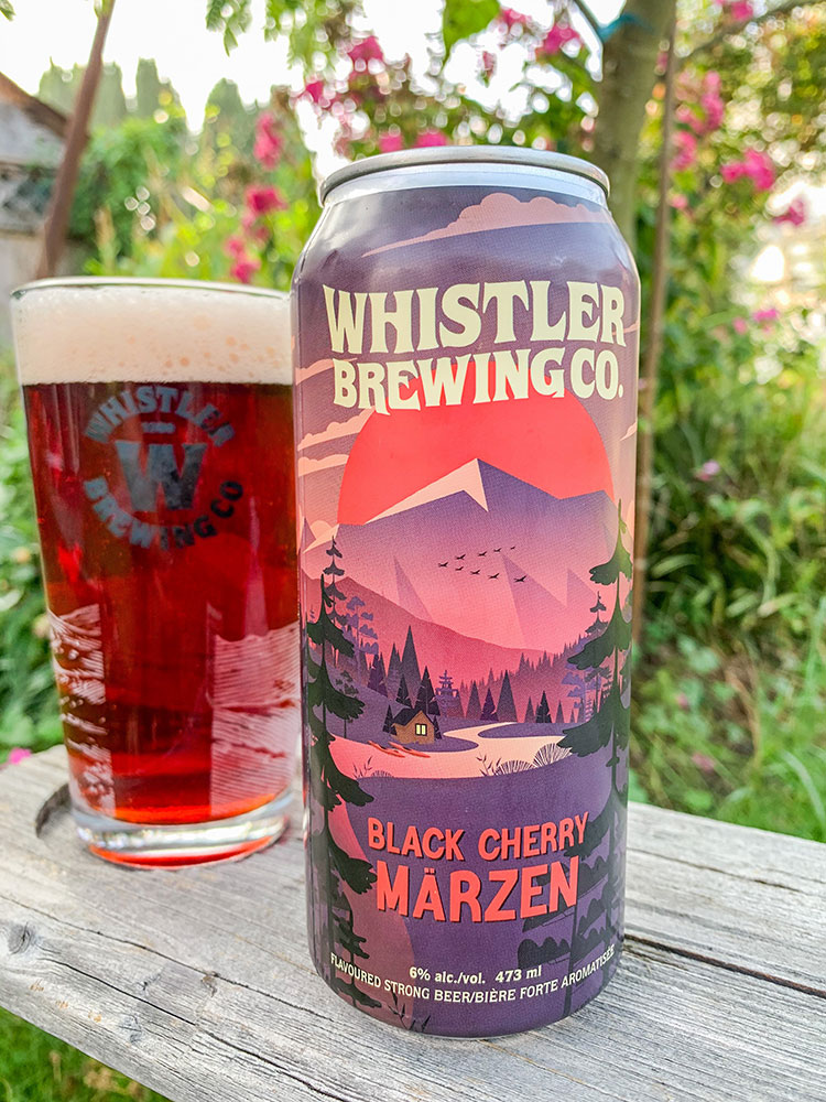 The Black Cherry Marzen from Whistler Brewing Company.
