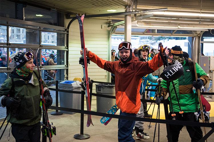 Whistler opening day gondola