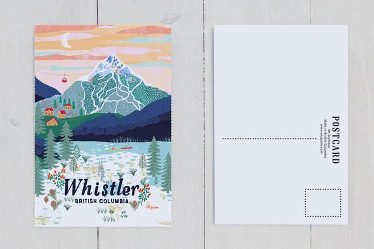 Whistler postcard by Anja Jane