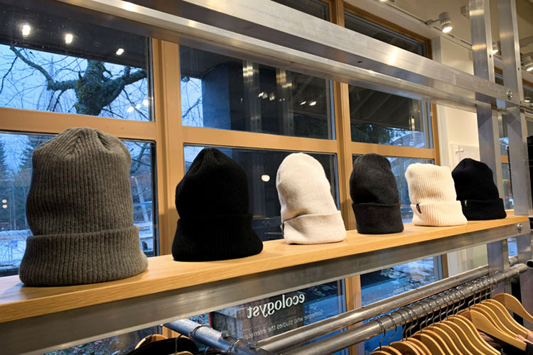 Hats at ecologyst in Whistler