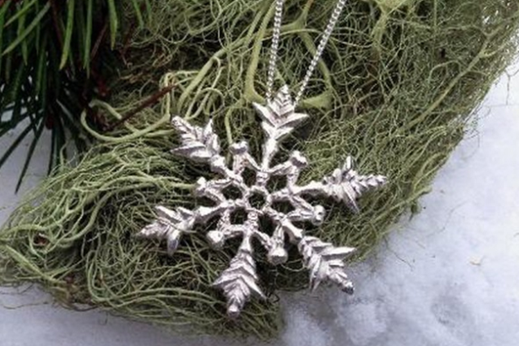 Justine Brooks snowflake necklace