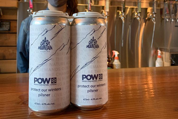 POW pilsner at Coast Mountain Brewing