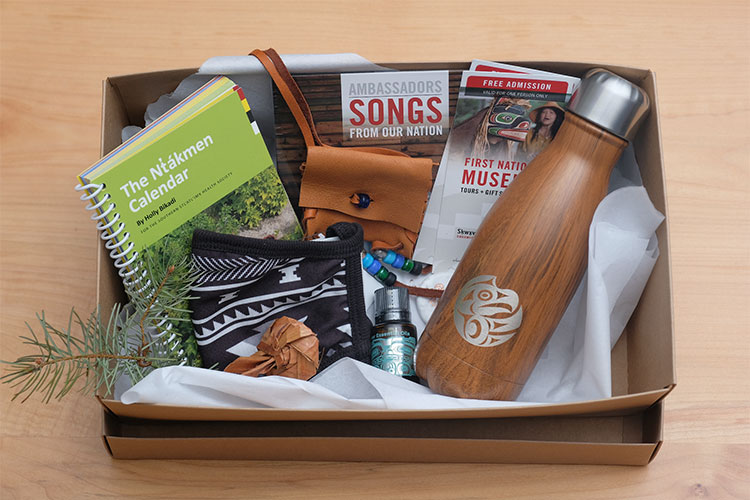 The cleansing gift box available at the Squamish Lil'wat Cultural Centre.