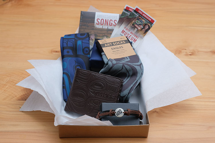 The For Him gift box available at the Squamish Lil'wat Cultural Centre.