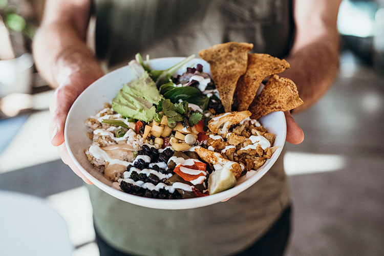 A lunch bowl from The Green Moustache.