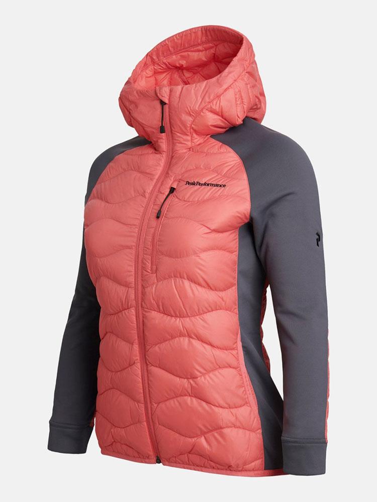 Women's Helium Hybrid Hood Jacket at Peak Performance in Whistler.