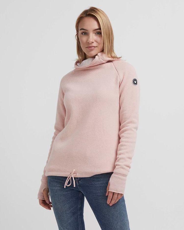A woman models the Holebrook Martina Sweater.