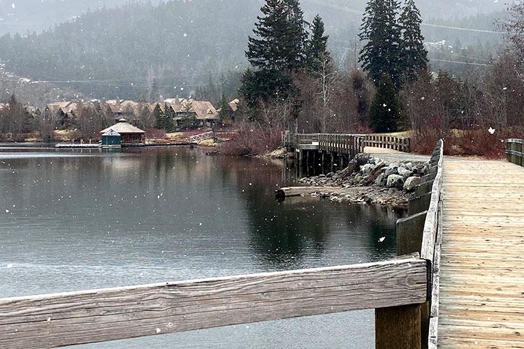 The boardwalk area around Green Lake in Whistler.