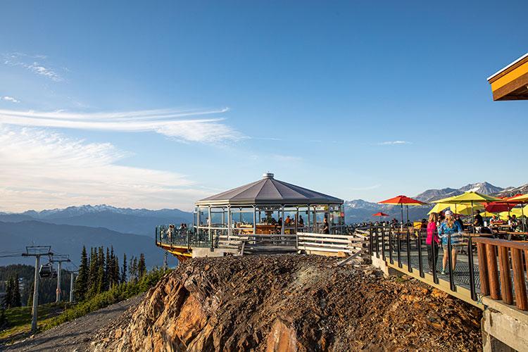 The Umbrella Bar on Whistler Mountain in the summer.