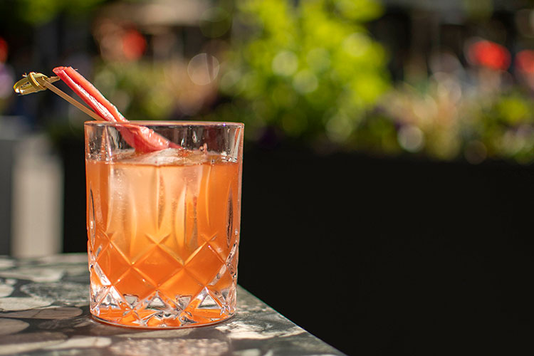 The Rhubarb Old Fashioned at Araxi in Whistler.