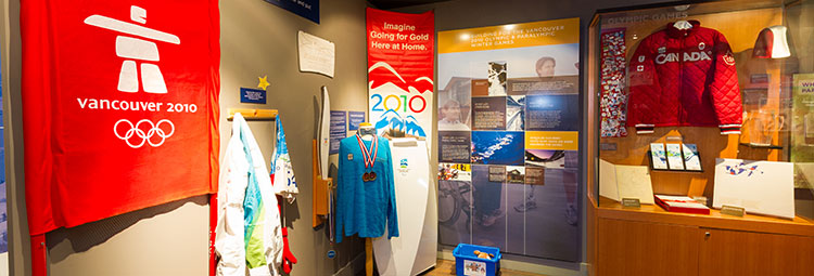 The 2010 Winter Olympic and Paralympic display at the Whistler Musuem.