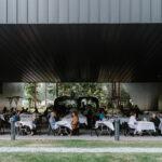 Art lovers dine underneath the Audain Art Museum in Whistler.